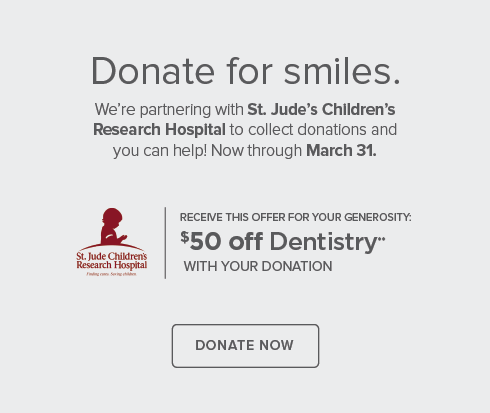Valley Modern Dentists - We're partnering with St. Jude's Children's Research Hospital to collect donations and you can help now through March 31.